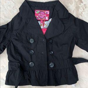 Dollhouse Black Double-Breasted Peplum Jacket